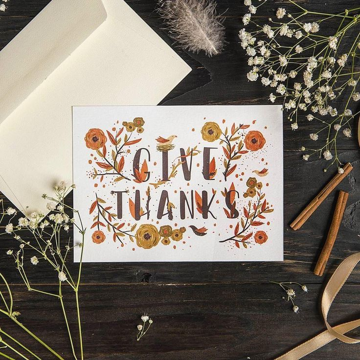 free online printable wedding thank you cards%0A Give thanks  A perfect gratitude Customize and print this card for free   Design by