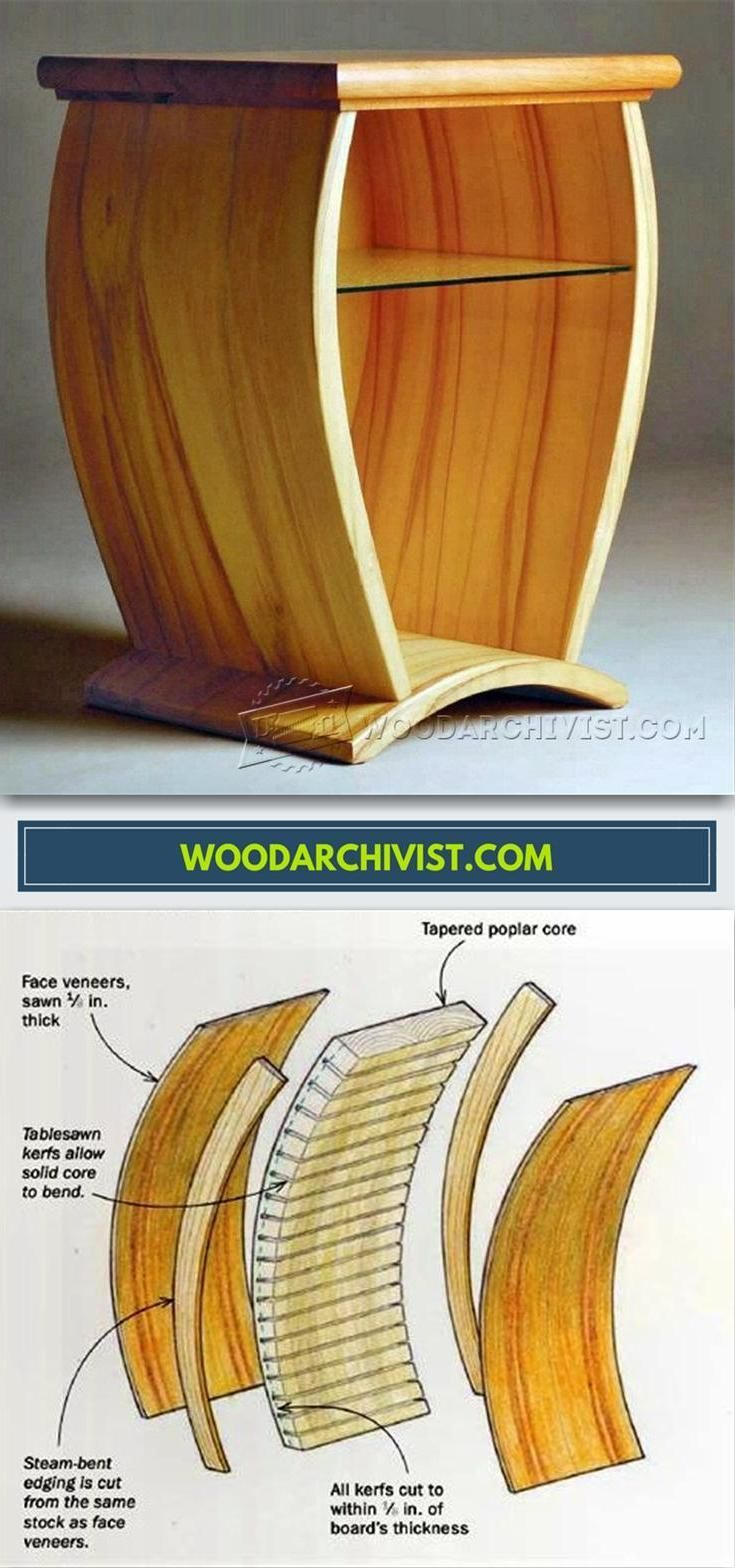 Making Curved Wood Panels for Furniture - Bending Wood Tips and Techniques | WoodArchivist.com