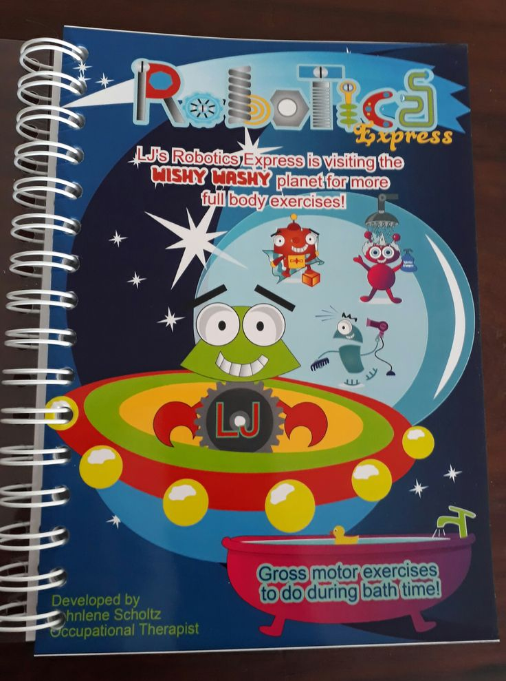 Booklet with more than 130 gross motor exercises for children 3-8 years old to do during bathtime! It include all gross motor skills needed for milestone development and school related tasks!
