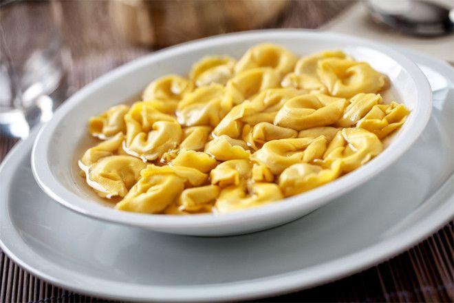 Тортеллини с мягким сыром
