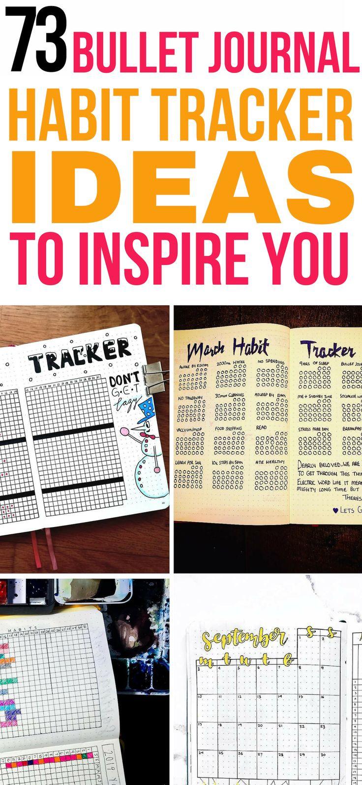 Bullet journal habit tracker ideas to inspire! These amazing bullet journal habi…