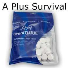 900 Tablet Wash Cloths Compact Individually Wrapped Survival Hygiene Kit…