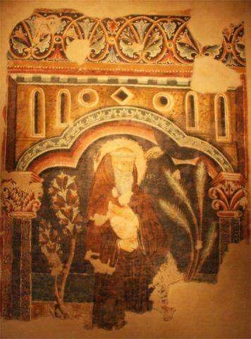 """Maestro di Sant' Agostino - S. Guglielmo da Malavalle - Affresco riportato su telaio - Seconda metà del XIII secolo -  Pinacoteca civica """"B. Molajoli"""" di Fabriano (Marche, Italia)"""