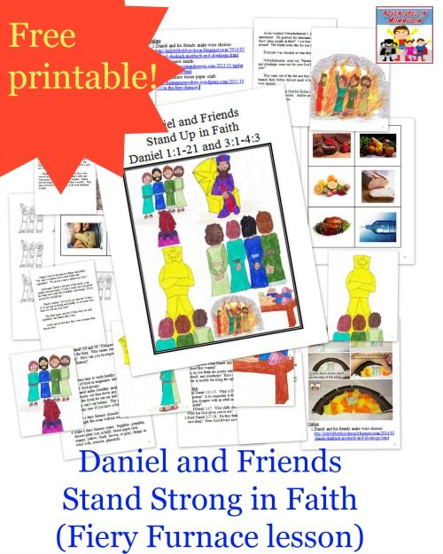 1000 Images About Preschool Bible Three Men In The 3 Hebrew Boys In The Fiery Furnace Printable