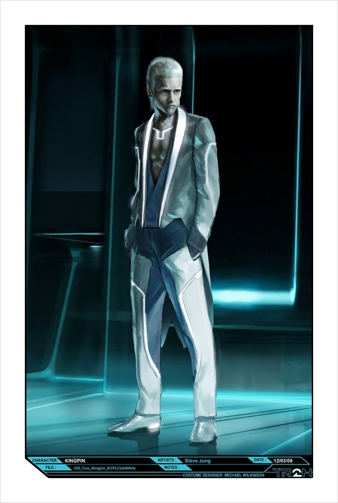 """Early conceptual design for Castor, the proprietor of the End of the Line club from """"Tron Legacy"""" (2011)"""