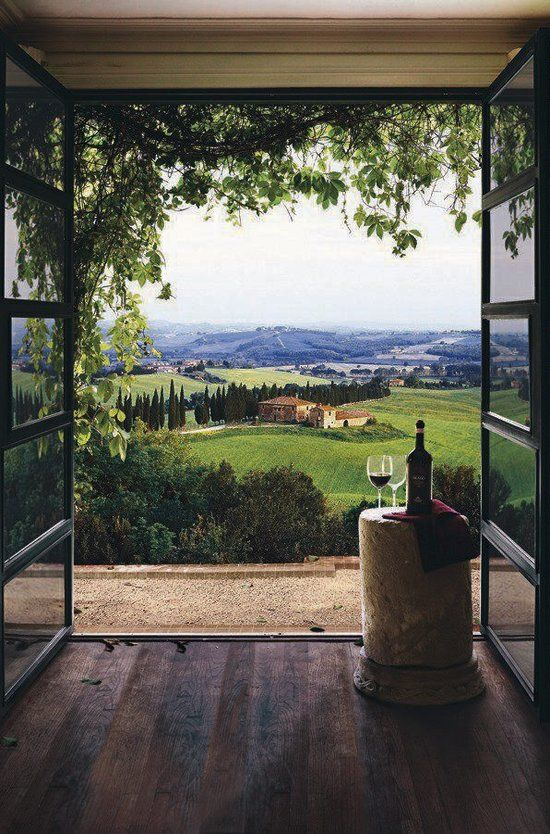 Tuscany, Italy - beautiful countryside, great food and great wine