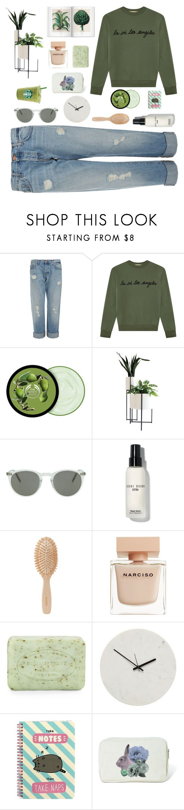 """Sin título #1468"" by solespejismo ❤ liked on Polyvore featuring J Brand, Être Cécile, The Body Shop, Oliver Peoples, Bobbi Brown Cosmetics, Meraki, Narciso Rodriguez, Pré de Provence, Holly's House and Pusheen"