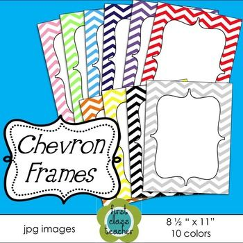 FREE - Chevron Frames  ~ 10 colors