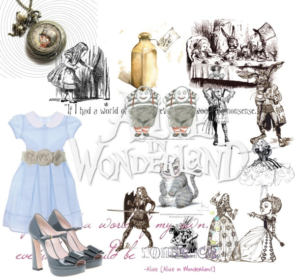 """Alice in the wonderland"" by littlefairy8 on Polyvore"
