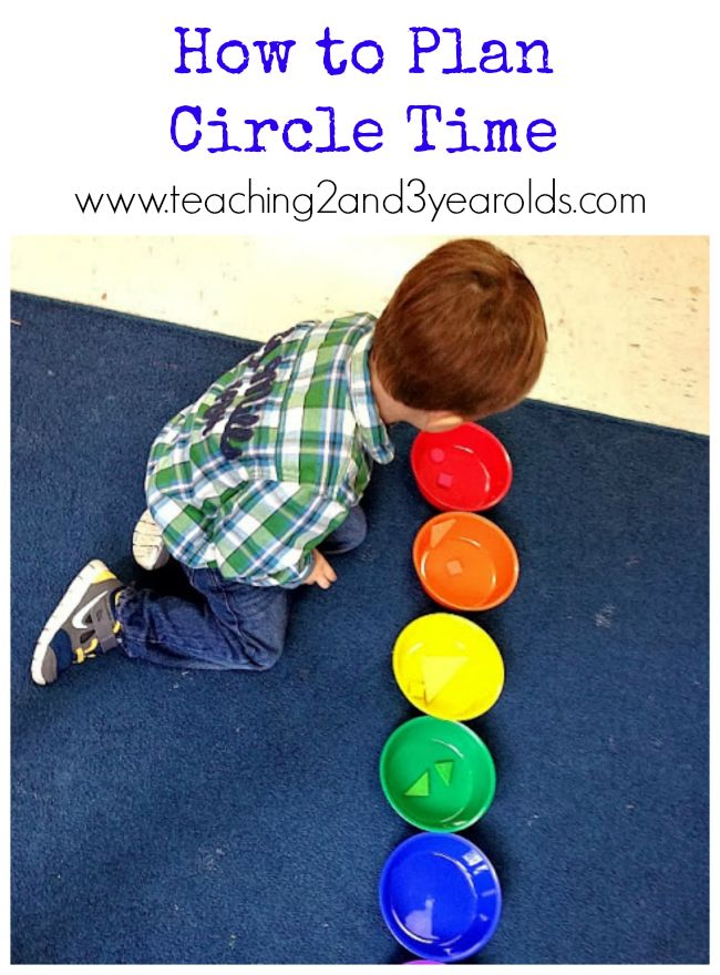 Tips on how to plan a circle time from Teaching 2 and 3 Year Olds.