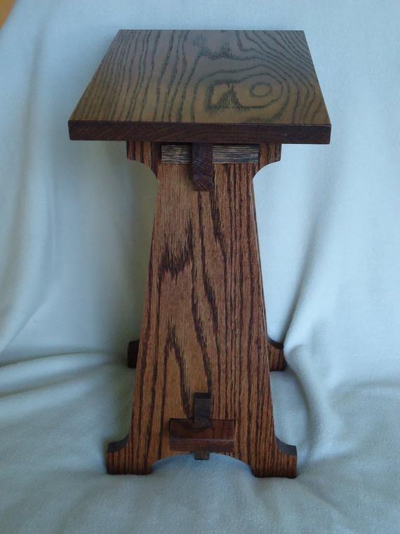Handmade Arts Crafts Style Oak Table Oak Table Handmade Art