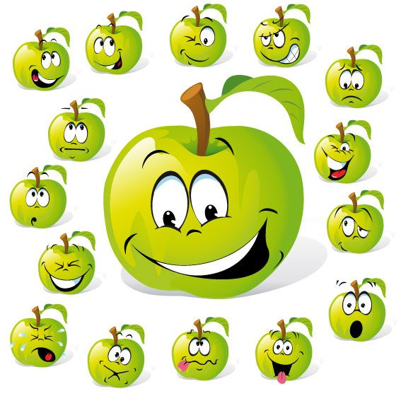 Cartoon Fruit Expression 01 Vector Download Free Vector3d Model