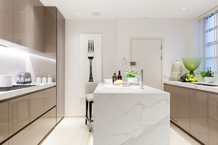 Luxury hotel standard apartment - kitchen interiors. © Taylor Howes Designs