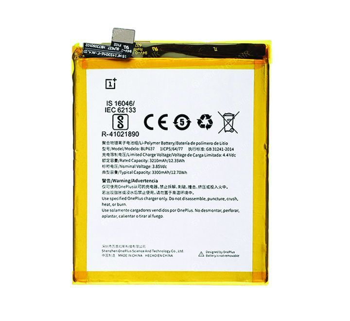 Oneplus 5 3300mah Lithium Ion Battery 1 Month Warranty Lithium Ion Batteries Oneplus Mobile Battery