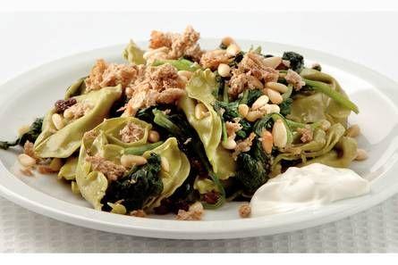 Tortelloni met spinazie uit de oven - Recept - Allerhande - Albert Heijn
