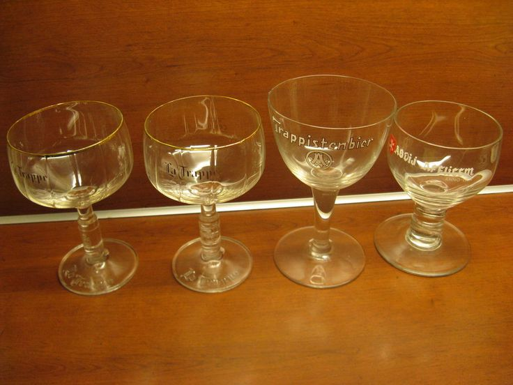 For Sale four original glasses: 2 x Trappe; 1 x Trappistenbier; 1 x Affligem...