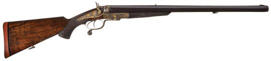 Large bore English Holland & Holland double rifle. Produced in 1883 for the Nizam of Hyderbad, Mir Mahbub Ali Khan, Asaf Jah VI.
