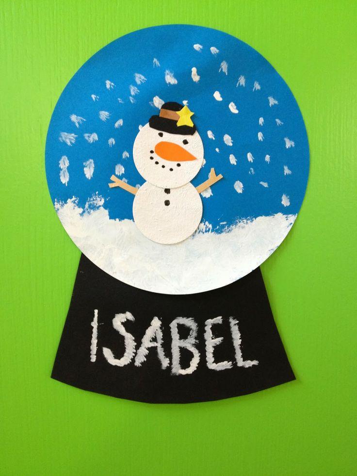 Schneekugel mit Schneemann