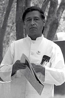 """Cesar Chavez - Labor leader and Latino American non-violent civil rights activist who formed United Farm Workers Association.  His slogan """"Sí, se puede"""" (Spanish for """"Yes, it is possible"""" or, roughly, """"Yes, it can be done"""")"""