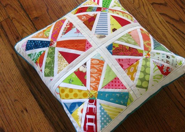 Pillow Talk Swap 6- Scrappy! by FashionedbyMeg, via Flickr