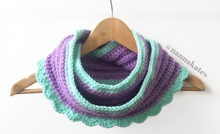 Crochet Infinity Scarf now available on Etsy in your choice of colours!
