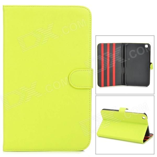 Brand: N/A; Quantity: 1 Piece; Color: Yellow; Material: PU leather; Style: Leather Cases; Type: For Tablets; Compatible Model: Samsung Galaxy Tab 3 8.0 (T310); Other Features: Protect your device from scratch, dust and shock; Packing List: 1 x Protective case; http://j.mp/1ljC5d3