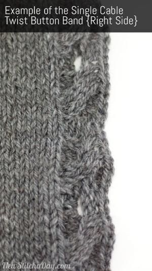 Technique | How to Knit the Single Cable Twist Button Band