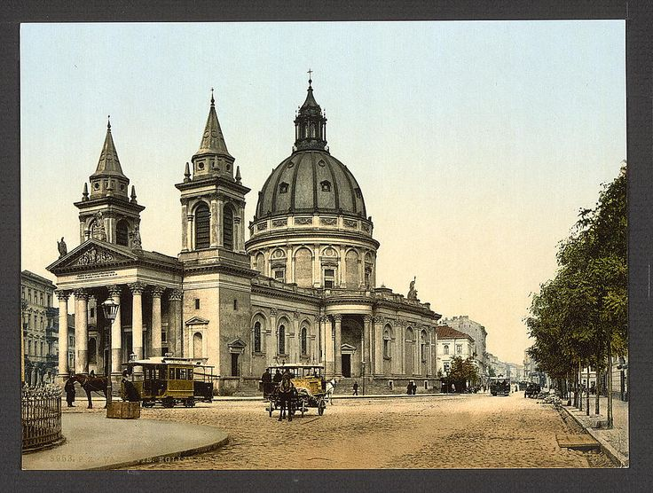 St. Alexander's Church, Warsaw, Poland. 1900. Source: U.S. Library of Congress.