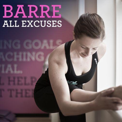 Barre all excuses.  #Kxbarre #noexcuses #raisethebarre