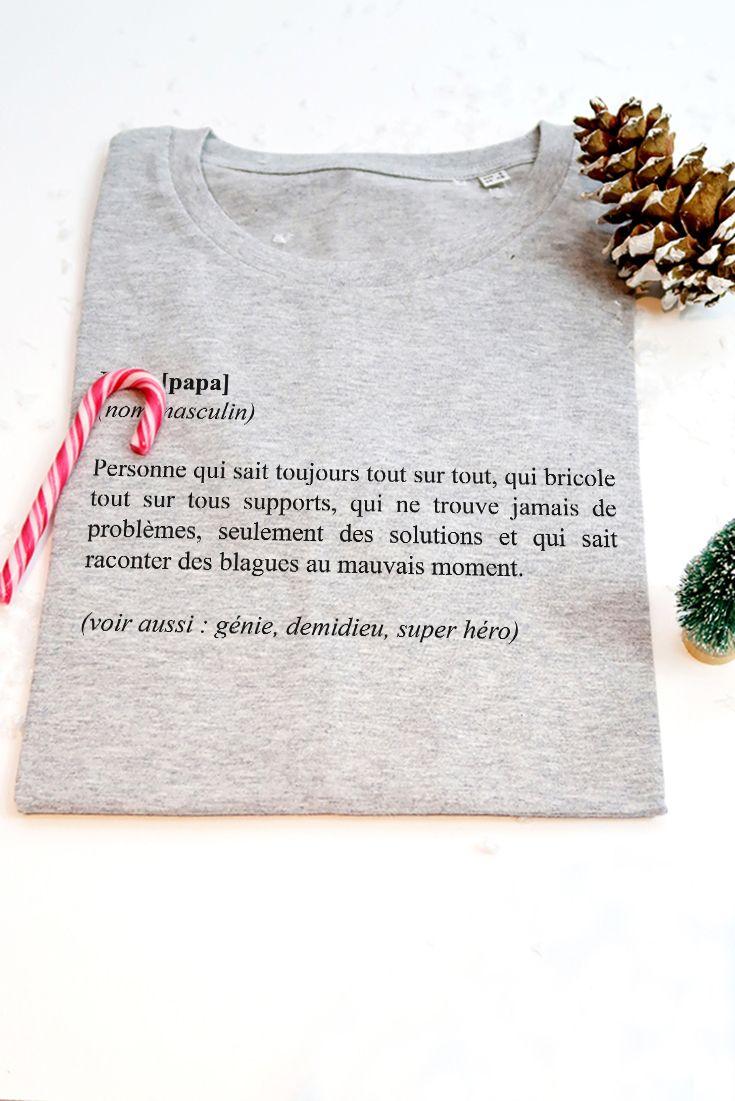 T Shirt Papa Definition Pour Un Cadeau De Noel Et Rigolo Et Tout