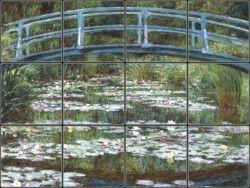 Japanese Footbridge Tile Mural | Pacifica Tile Art Studio