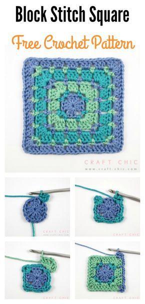 Block Stitch Square Free Crochet Pattern