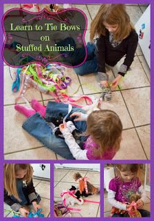 Life with Moore Babies: Learn to Tie Bows on Stuffed Animals: Stuffed Animals, Baby Kids, Moore Baby, Animal Kids, Babies Kids