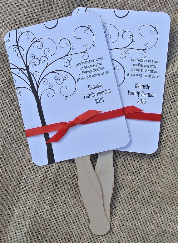 Family Reunion Favors Custom Fans Family by abbeyandizziedesigns