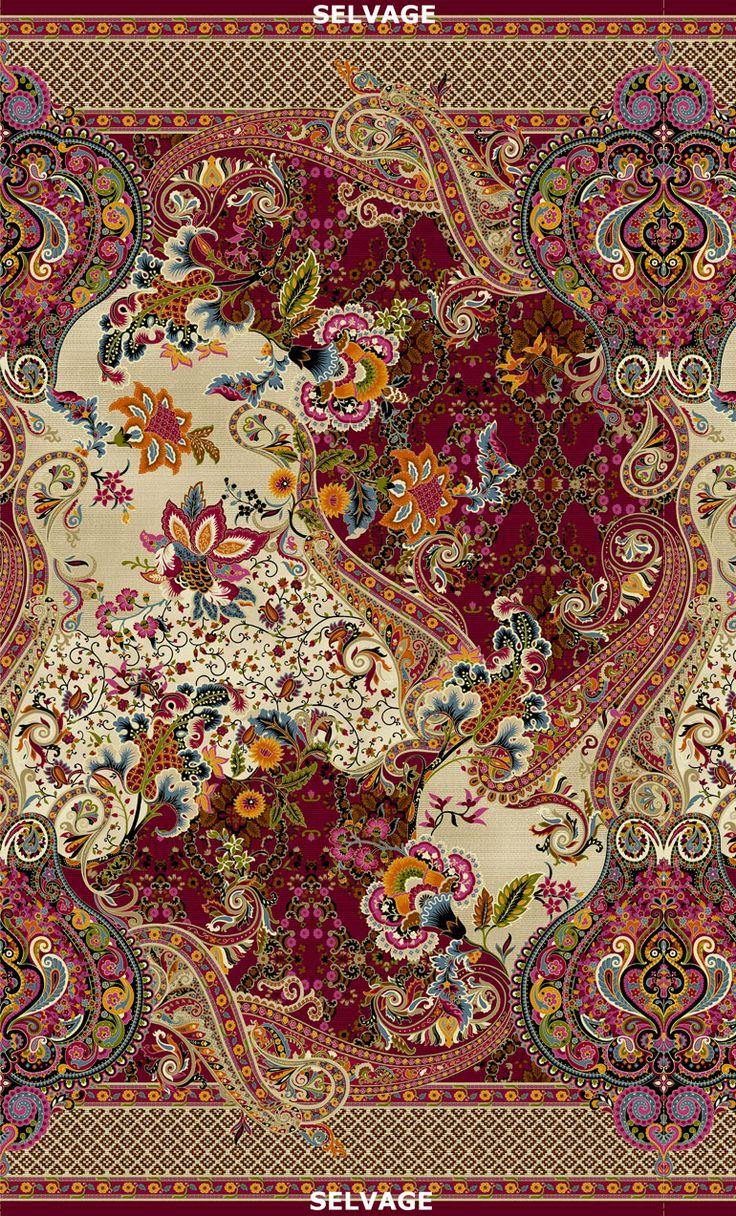 Timeless Treasures - Tivoli-CM4582-Multi Large Scale Paisley Floral – 24″ Repeat