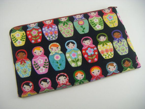 Russian Doll Pencil / Cosmetic Case by WhittyCreations on Etsy, $12.00