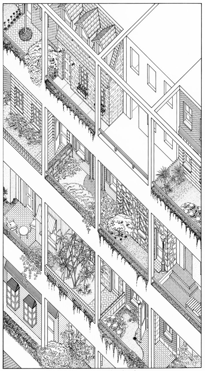 James Wines/SITE, High-rise of Homes, catalog of house units, major urban center, 1981