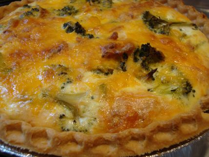 Broccoli Cheddar Quiche - Somebody's Mom: Home Cooking Recipes and Cookies for our Troops | Recipes from Mom's Kitchen