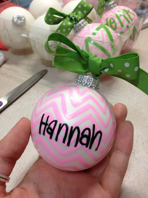Bows, Pearls, and Southern Sorority Girls: DIY: Sorority Ornaments
