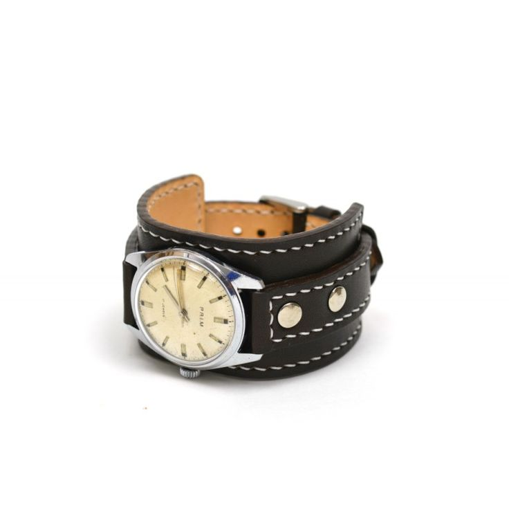 Leather bracelet for watches