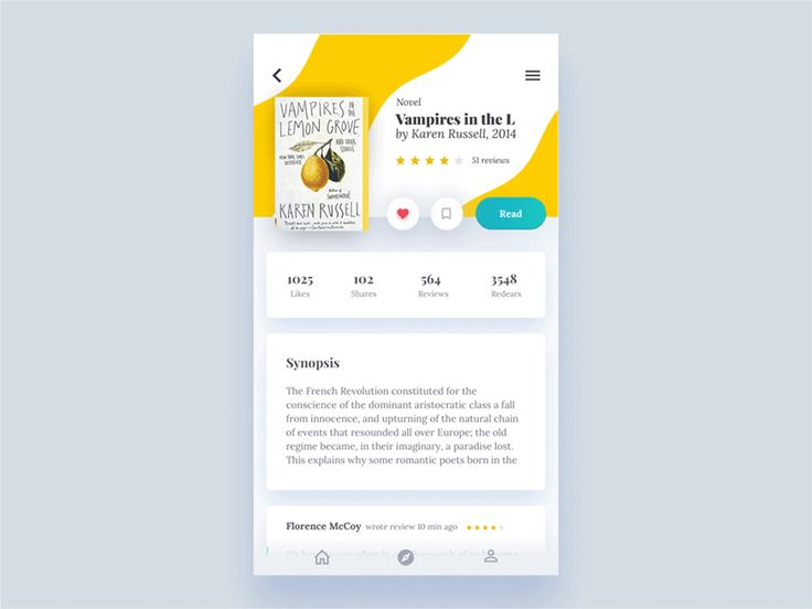 UI Interactions of the week #56  Water effect transitions and getting out cards in book app by Nikita Duhovny