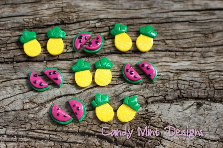 Fruity Studs - Watermelon or Pineapple / Candy Mint Designs