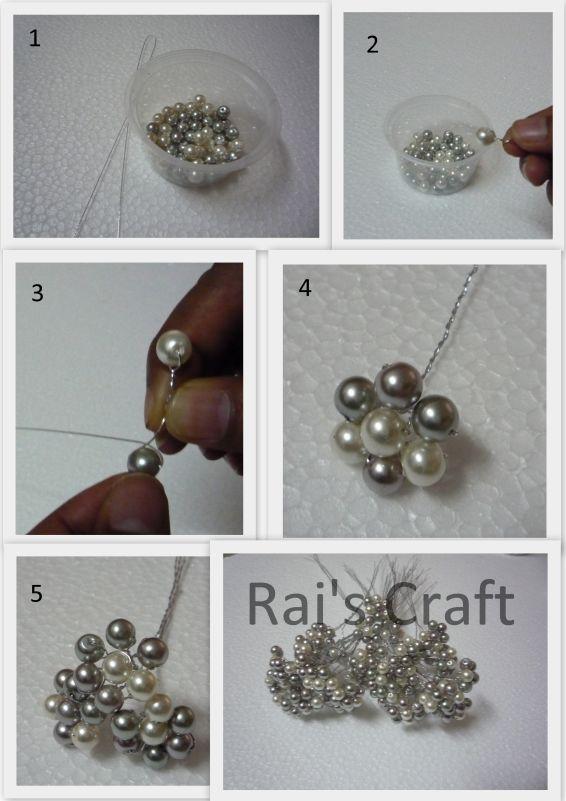Salam all,  Kali ni cik rai nk share tutorial utk buat bunga tangan mutiara...    1. Bahan yg diperlukan- manik pearl, dawai saiz 28  2. Ika...