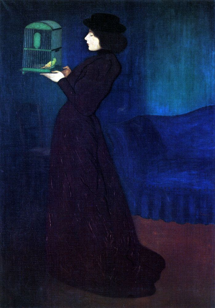József Rippl-Rónai: Woman with a Bird Cage, 1892.