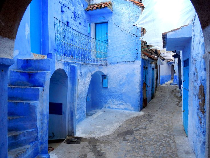 Best Chefchaouen شفشاون المغرب Images On Pinterest Morocco - Old town morocco entirely blue