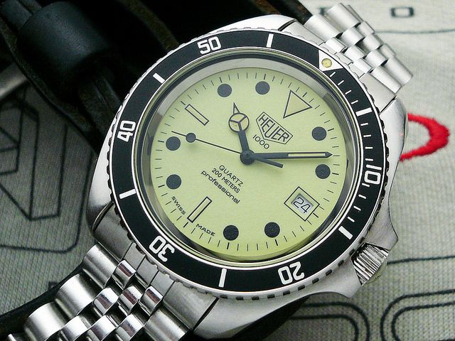 30 best automobilia42 on flickr tag heuer watches images on pinterest tag heuer wrist - Heuer dive watch ...