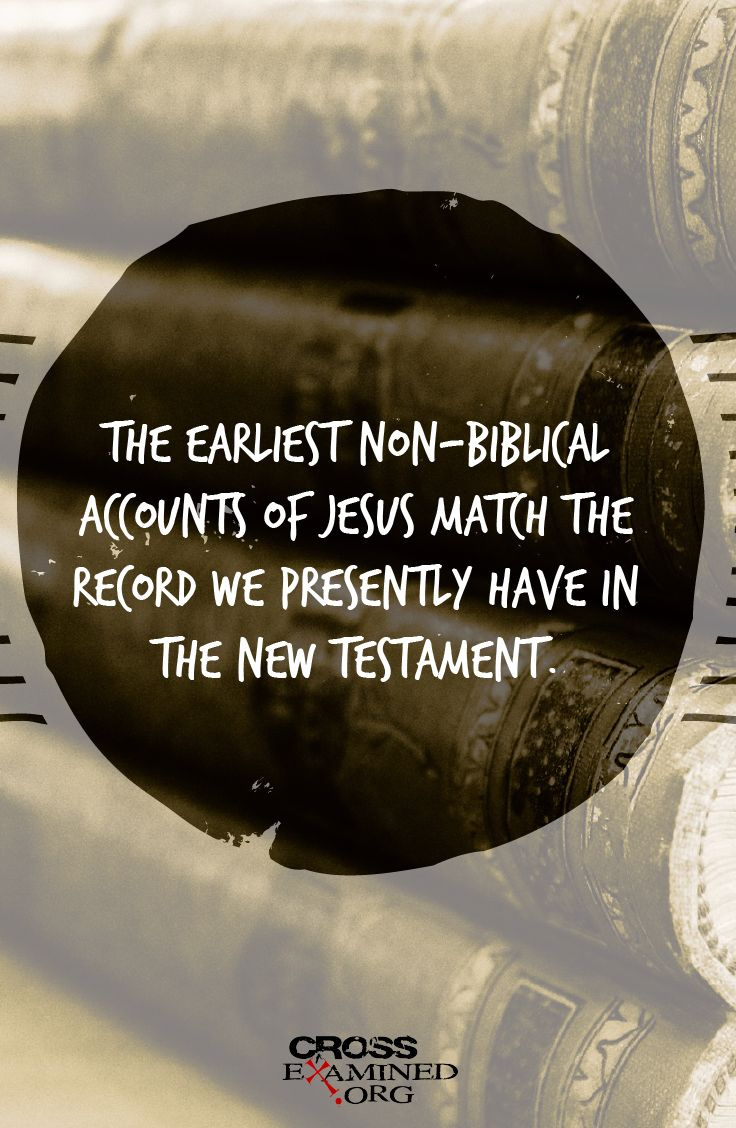 What the Earliest Non-Biblical Authors Say About Jesus