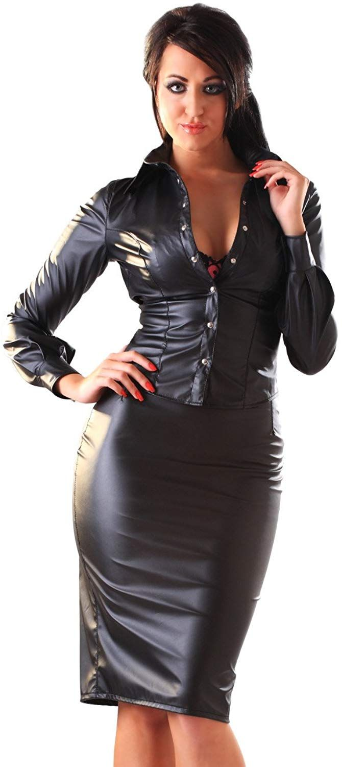 e63ae684a0 Honour Women's Skirt in Leather Look Black size UK 16 (XL): Amazon.co.uk:  Clothing