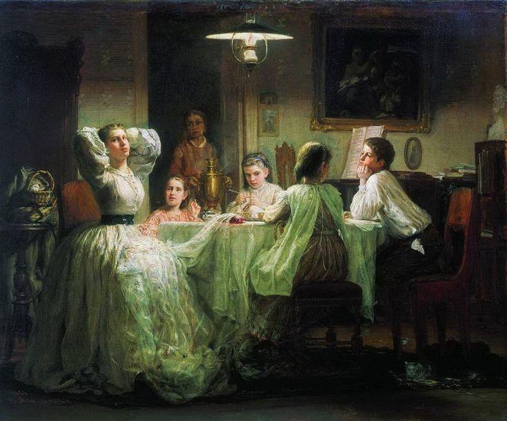 Максимов. Шитье приданного.1866 год