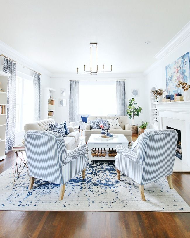 Simple Five Minute Blue And White Pumpkin Project Thistlewood Farm Living Room Decor